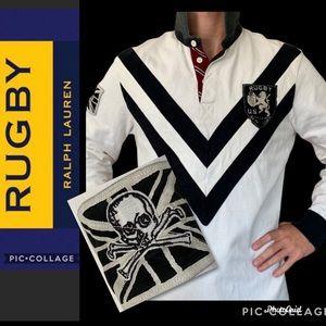 Vintage Ralph Lauren Rugby Skull Shirt Jersey LG